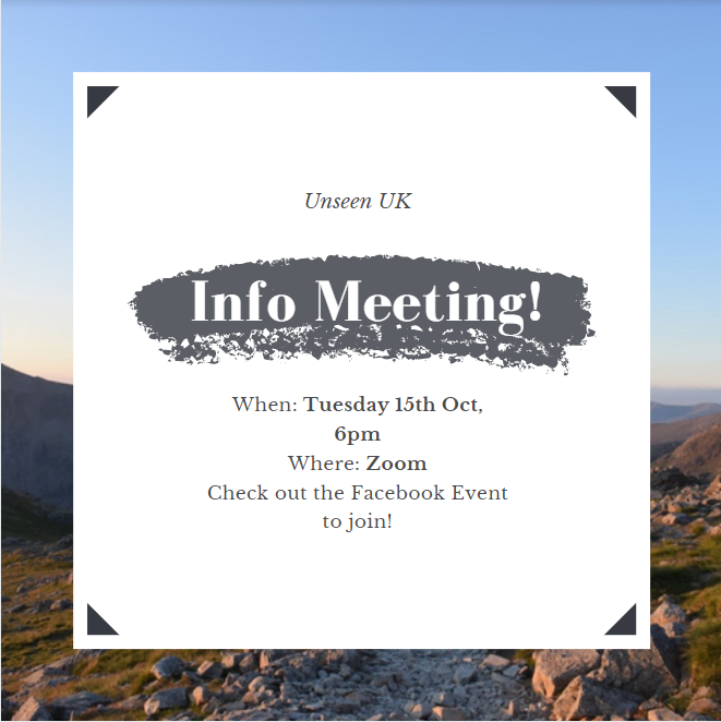 Three Peaks Info Meeting with Unseen UK