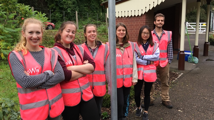 Volunteer at the railway